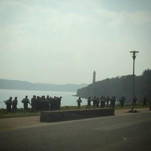 Entraînement des marins sur la route de la corniche #Brest…
