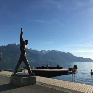 Freddie vous dit bonjour ! freddiemercury Montreux moutains Suisse Lemanhellip