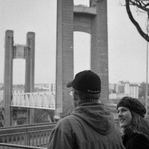 Souvenir de Brest  en grande conversation avec mon frrehellip